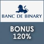 Banc De Binary 120% Bonus