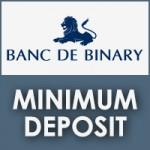 Banc De Binarry Minimum Deposit