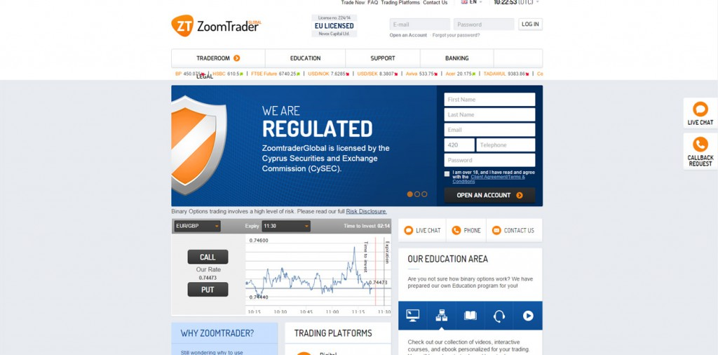 ZoomTrader Review Binary Options Broker