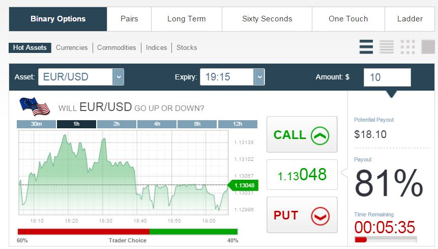 Binary options broker review