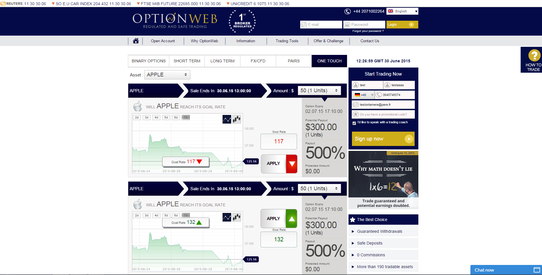 OptionWeb High Yield
