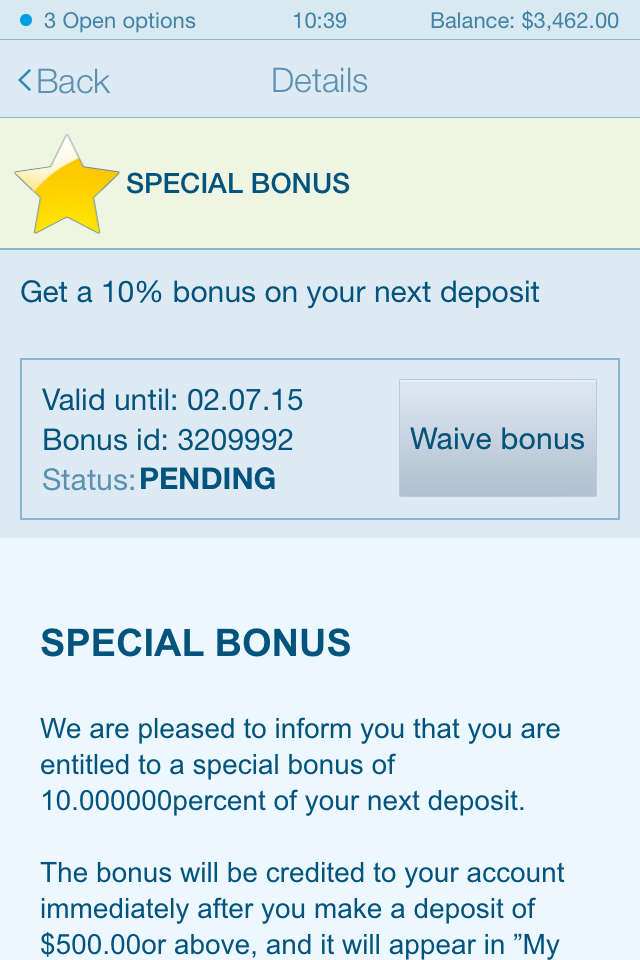 Anyoption Mobile Platform Special Bonus