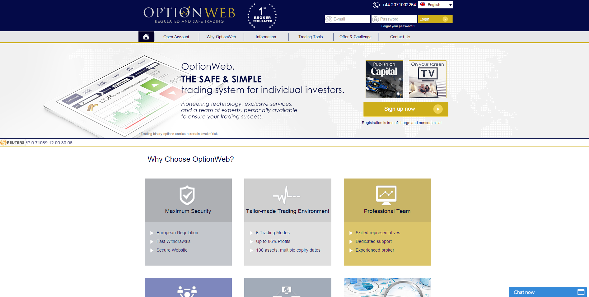 OptionWeb Home Page