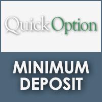 Quick Option Minimum Deposit