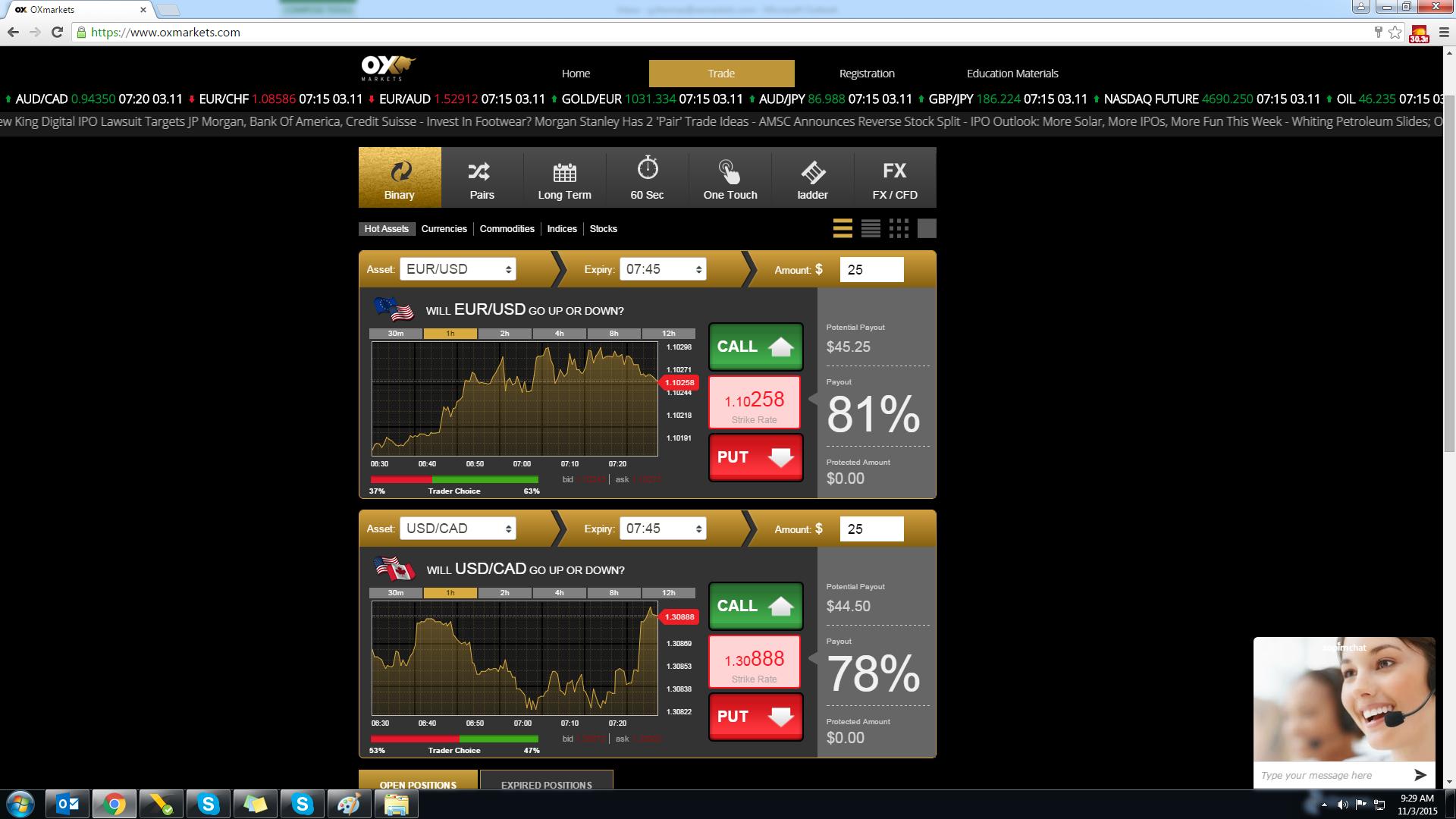 Ox Markets Standard BO