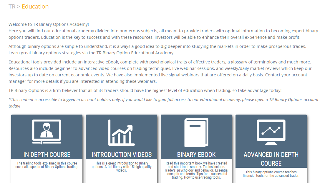 Binary options academy
