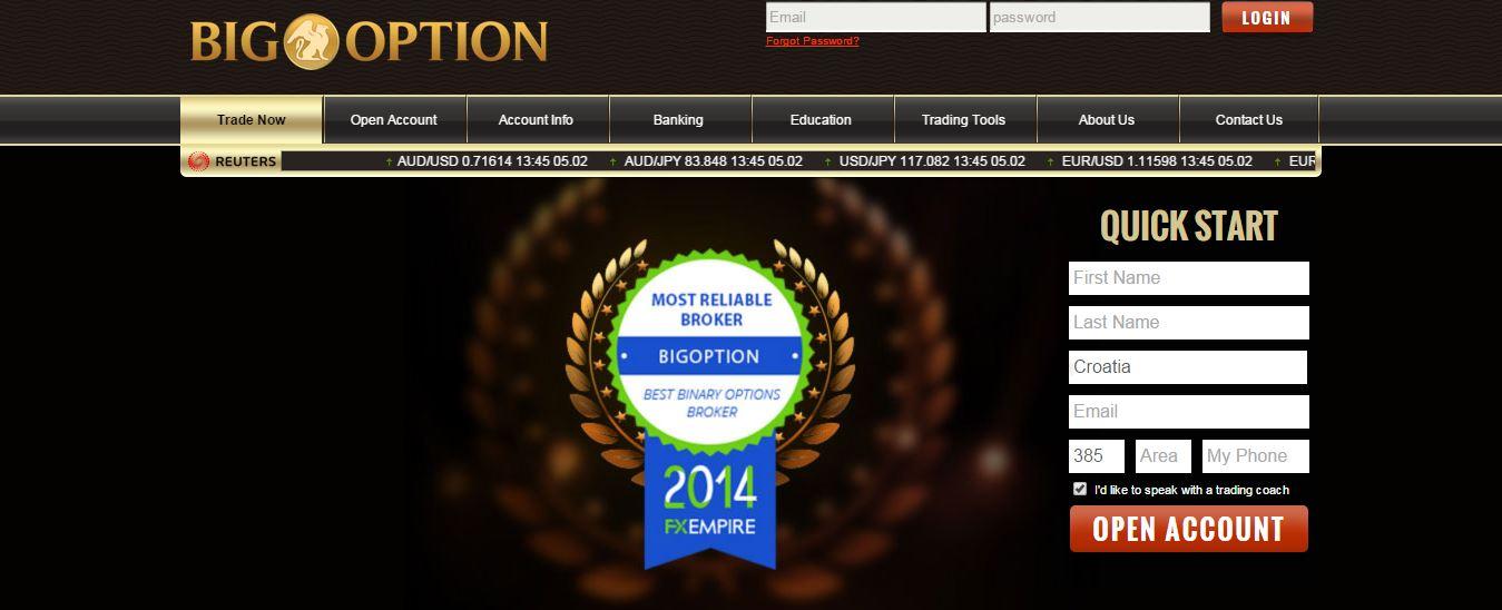 BigOption Home Page