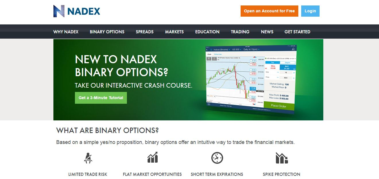 Nadex Home Page