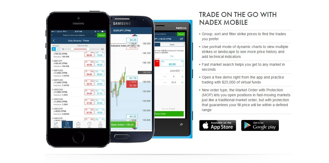 Nadex Mobile App