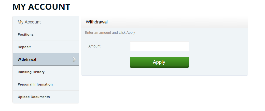 AlldayOption Withdrawal Page
