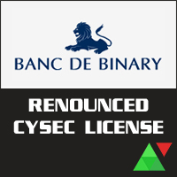 Banc De Binary Renounced CySEC License