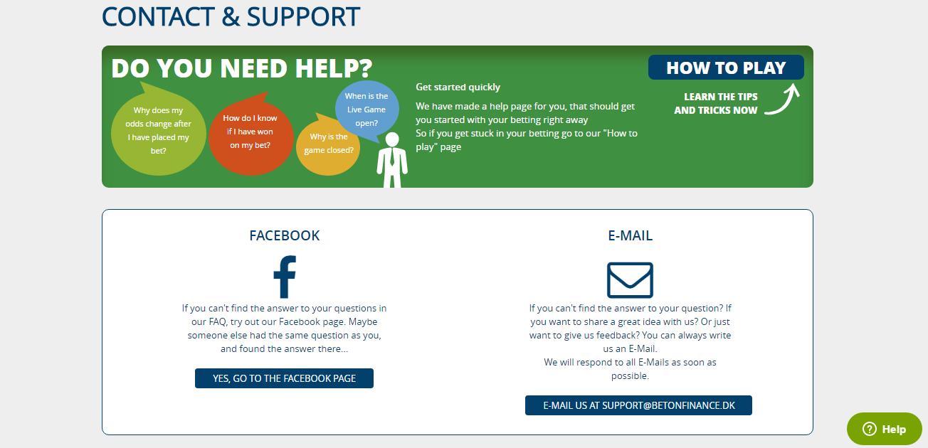 BetOnFinance Support
