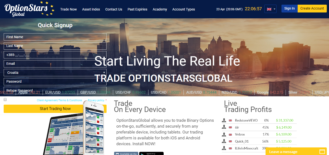 Blackwater global binary options