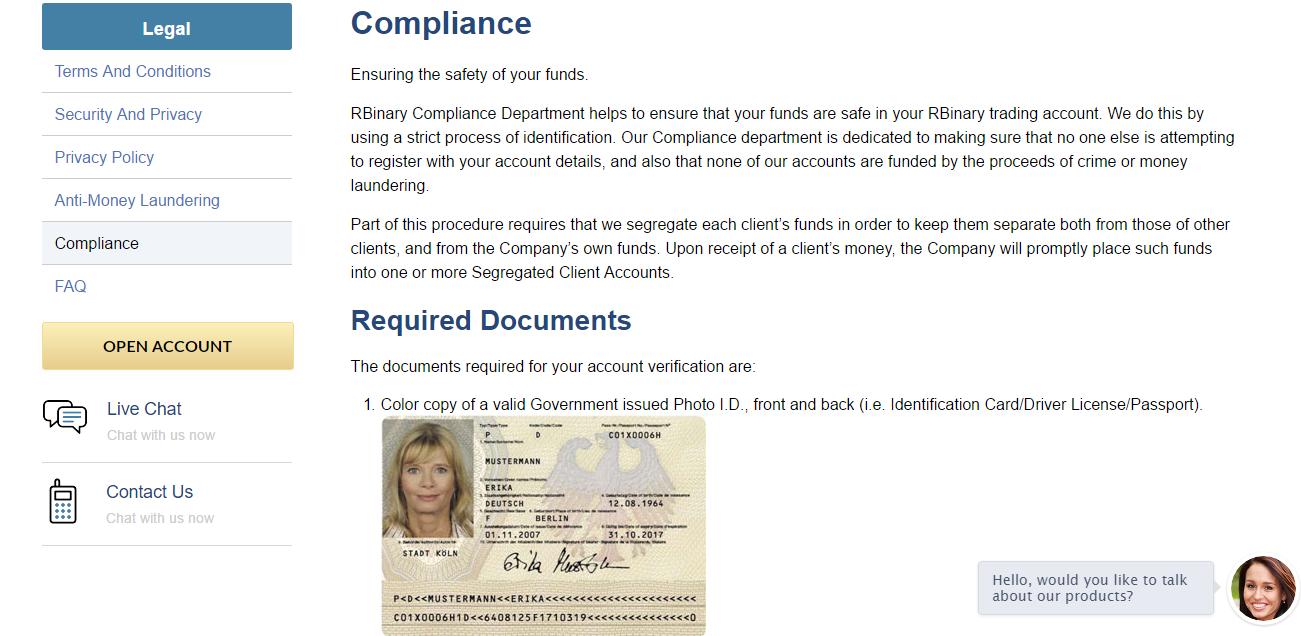 RBinary Compliance
