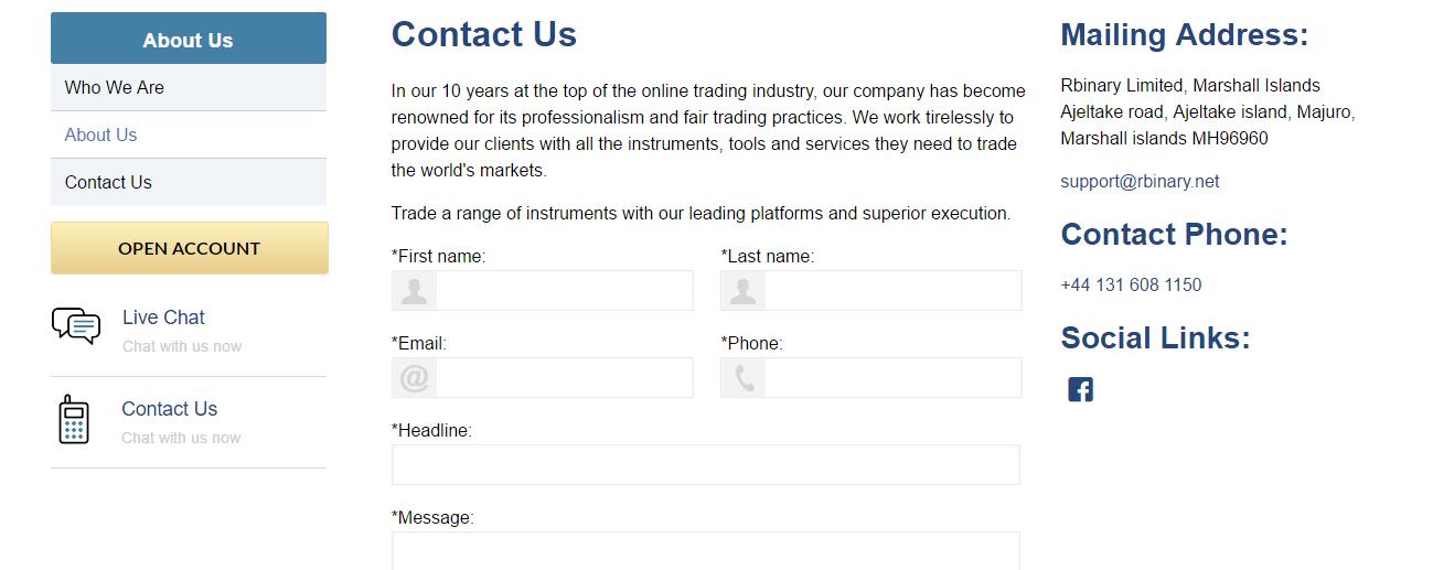 RBinary Contact