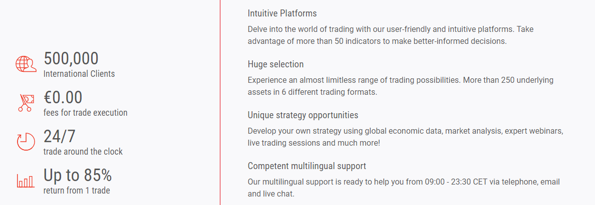 BDSwiss Advantages