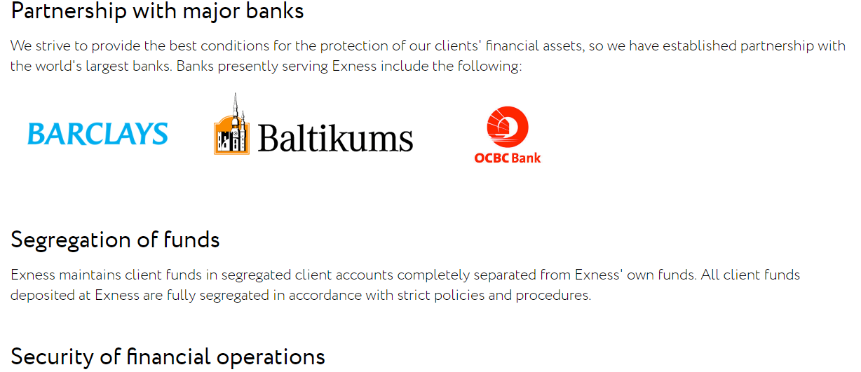 Exness Security Of Funds
