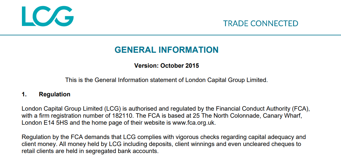 London Capital Group Regulation
