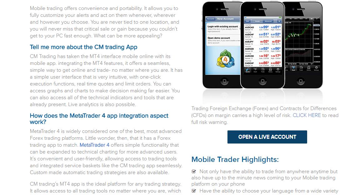 CM Trading MT4 Mobile