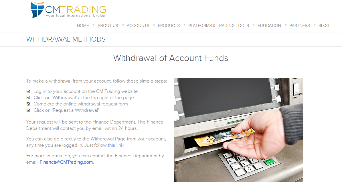 CM Trading Withdrawal