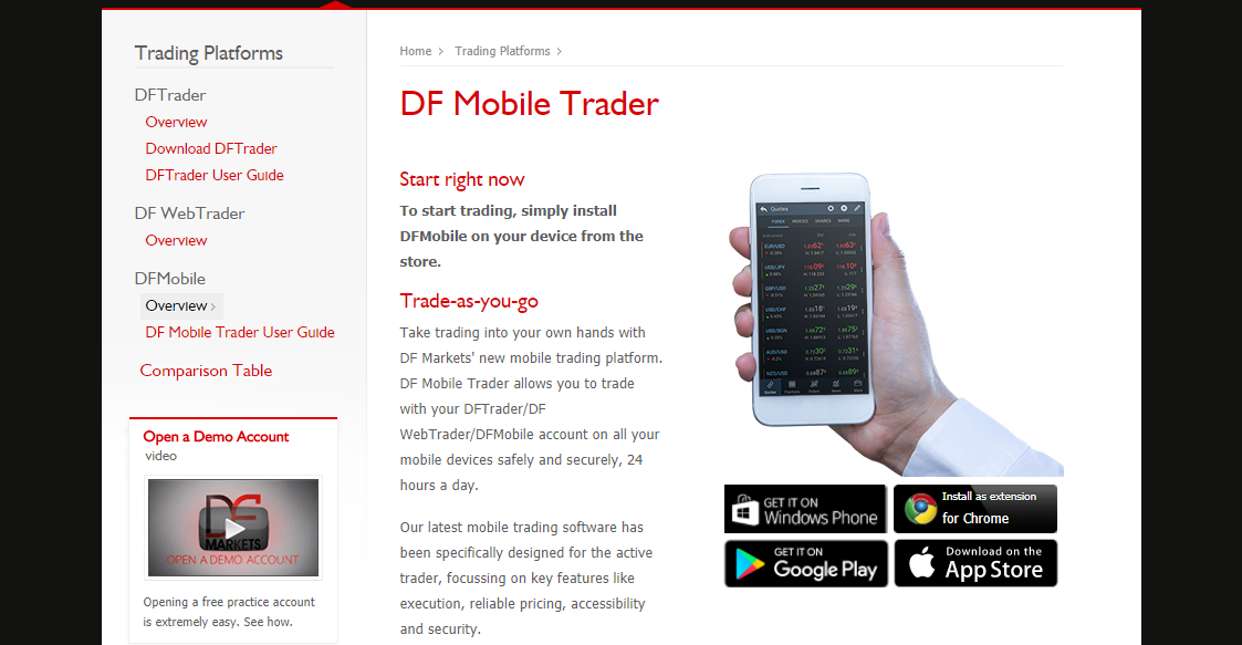 DF Markets Mobile App