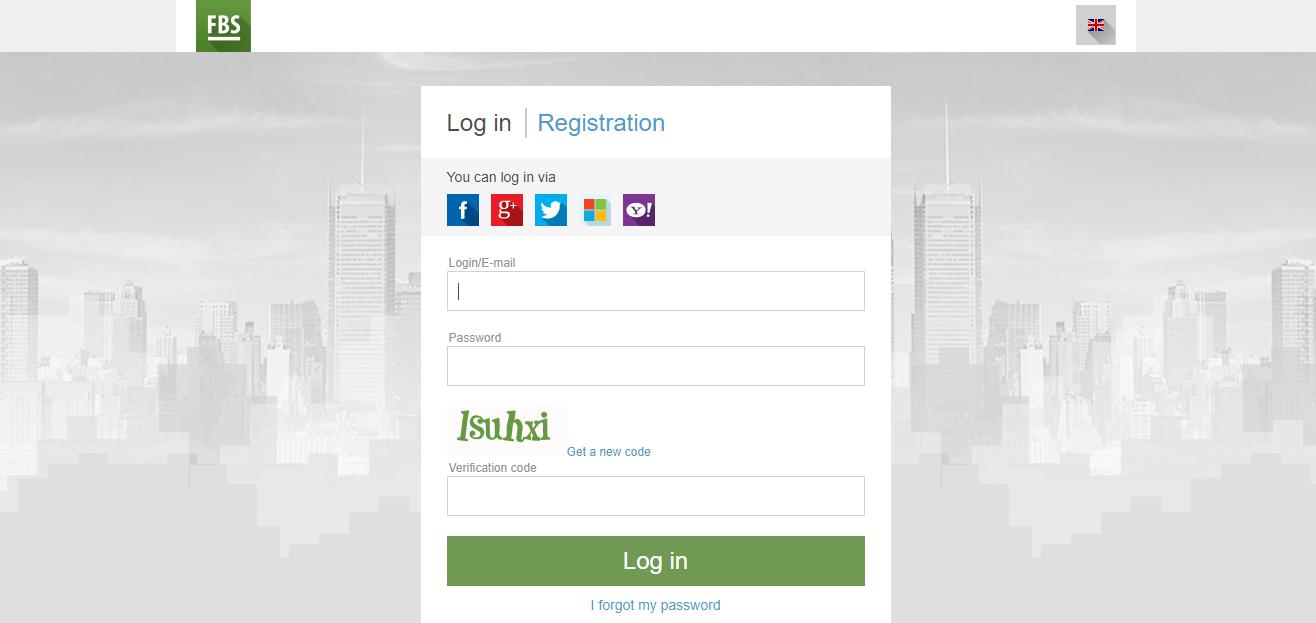 FBS Registration Page