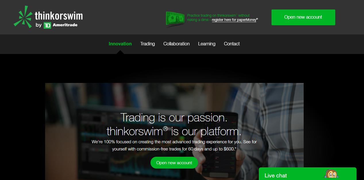 thinkorswim Home Page