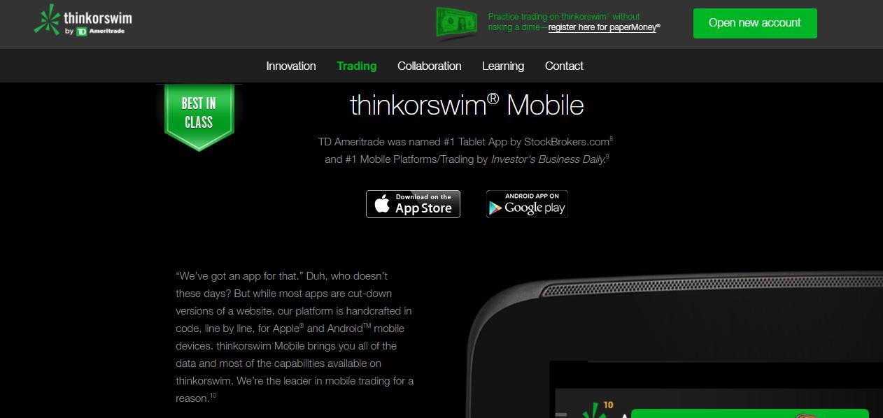 thinkorswim Mobile App