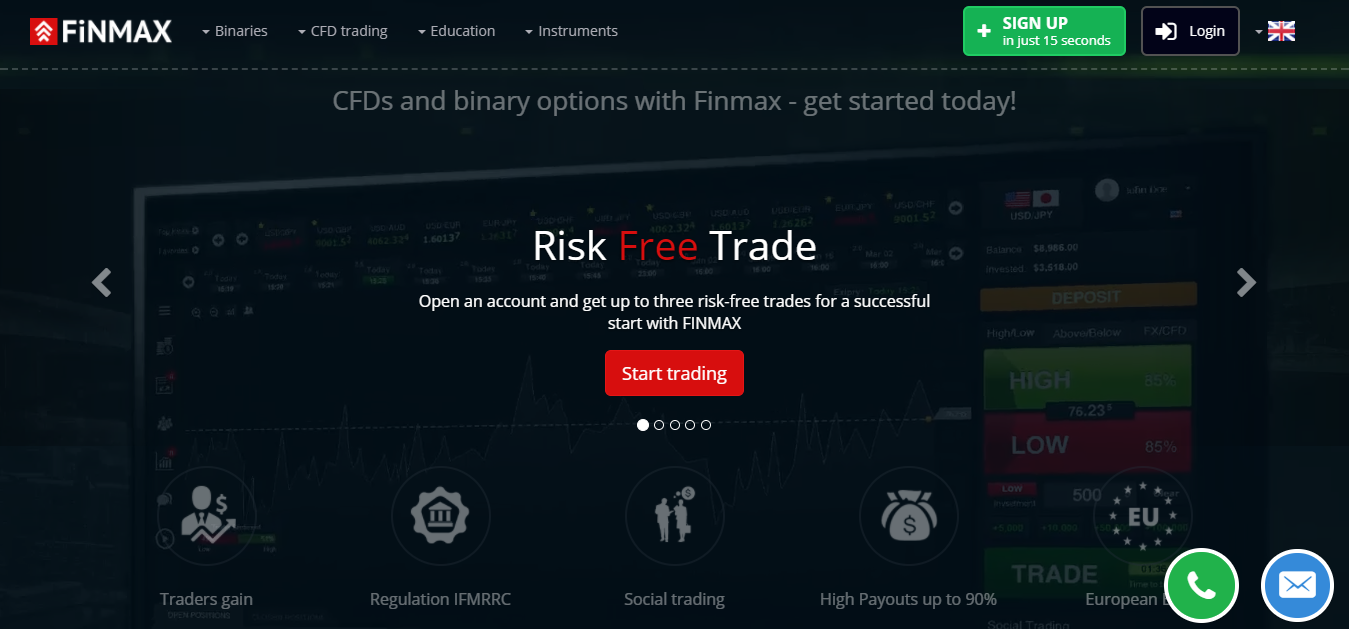 Finmax Home Page