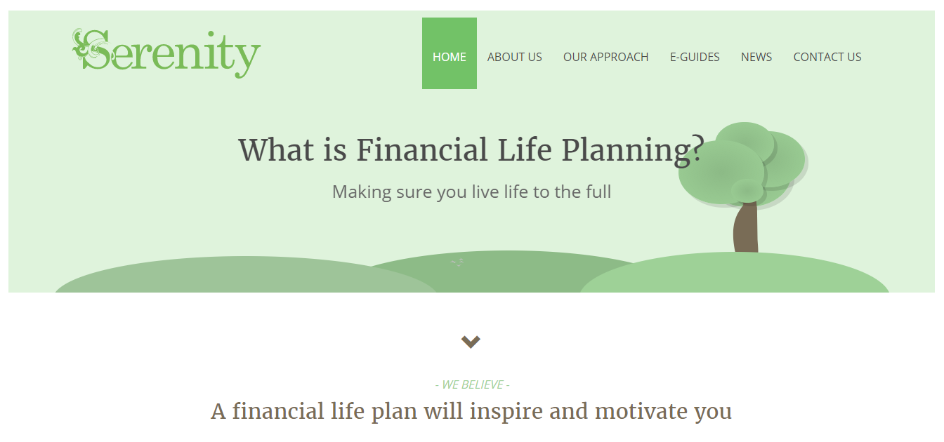 Serenity Financial Home Page