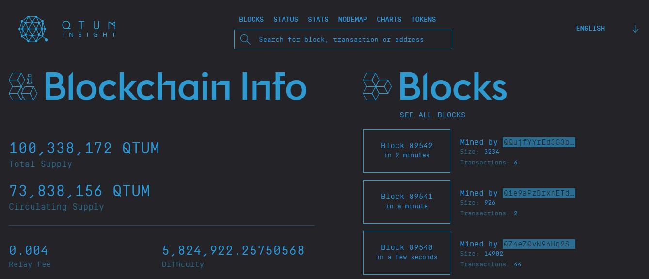 Qtum Blockchain Explorer