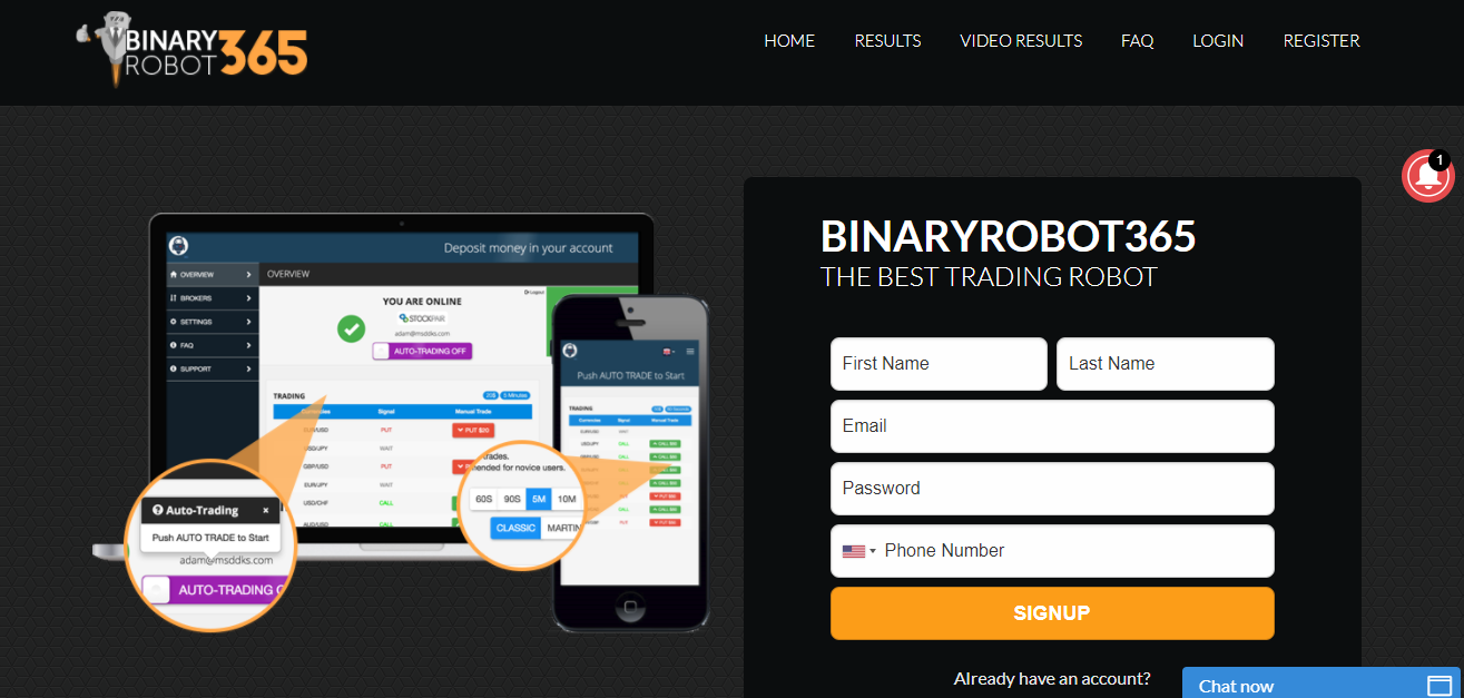 Binary Robot 365 Home Page
