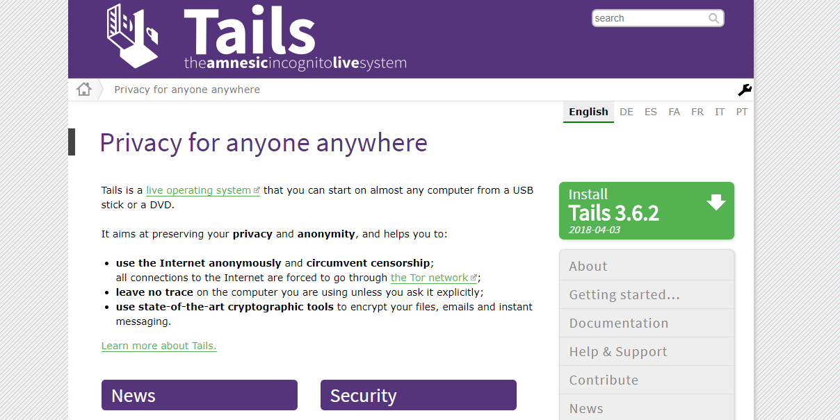 Tails Home Page