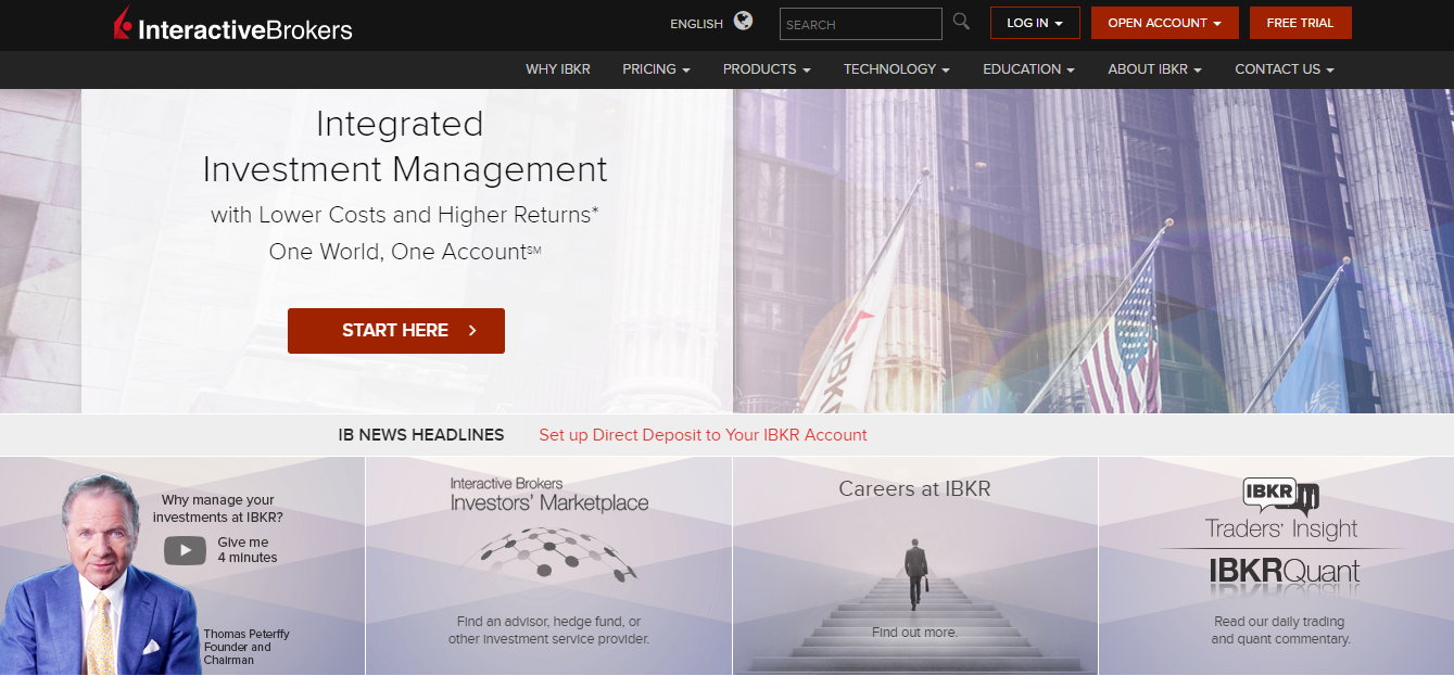 Interactive Brokers Home Page