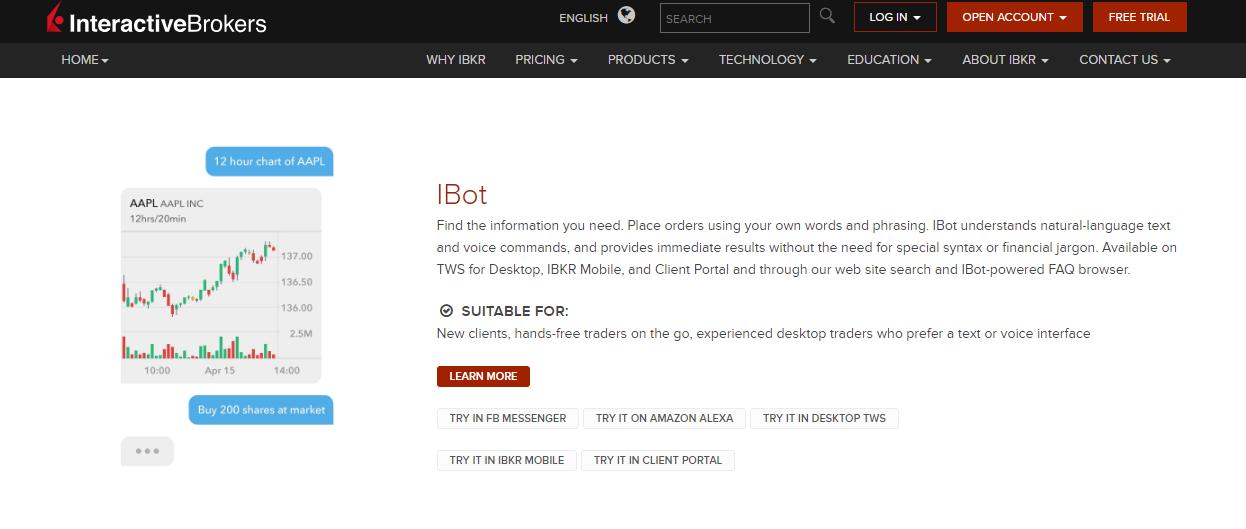 Interactive Brokers iBot