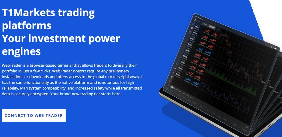 T1 Markets Trading platforms
